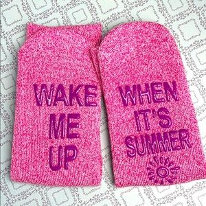 New sock pink wake me up when it's summer